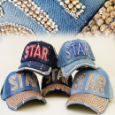 wholesale Headgear: FL211 FASHIONABLE  HAT, Basecap JEANS, STAR