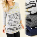 Großhandel Fashion & Accessoires: K134 TOP, Bluse, lange Ärmel, MOSHOKA