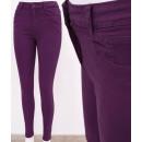 Großhandel Hosen: B16778 Klassische Damen Jeans, Hose, Skinny, Berry
