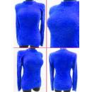 K29 Behaarter, warmer Frauenpullover, halber Rollk