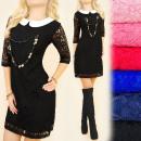 Großhandel Kleider: BI605 Phenomenal, Spitzenkleid, Kragen