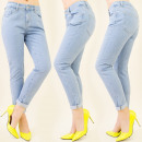 ingrosso Jeans: B16326 PANTALONI  Fidanzato, JEANS, polsini MIX