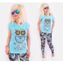 wholesale Shirts & Blouses: K526 Loose Blouse, Cotton Top, Hipnotic Owl