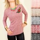 mayorista Merceria y costura: C11276 Blusa Moderna, Raya Romántica: Rosa
