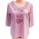 wholesale Shirts & Blouses: Romantic blouse with bow, M-2XL, 5229