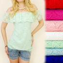 BI416 LACE BLOUSE, BOVEN, MOOIE FRILL