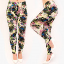 4608 Patterned Leggings with a floral pattern