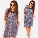 BI807 Damen Plus Size Dress bis 54, Knöpfe