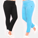 Großhandel Hosen: C17659 Damenhose, Übergröße, saftige Farben
