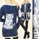 wholesale Pullover & Sweatshirts: C17238 Long  Sweater, Cardigan, coat, Gorgeous Owl