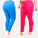 Großhandel Hosen: C17657 Bunte Damenhose, Übergröße