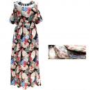 hurtownia Fashion & Moda: Letnia Sukienka Damska, Wzór Liście, M-2XL, 6536