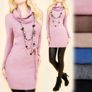 C22136 Winter Dress Tunic, Loose Golf, Cashmere