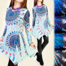 4028 WONDERFUL TUNIC DRESS, fanciful pattern, jets