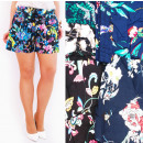 Großhandel Shorts: Shorts, Frauenshorts, Loose Cut, Blumen, ...