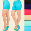 wholesale Shorts: FL464 Plus Size  Shorts, Golden Sliders, Colors