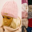 nagyker Ruha és kiegészítők: C1973 Téli női sapka faragott pulóverekkel