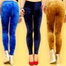 Großhandel Fashion & Accessoires: 3679, Velours,  glatte, weiche Leggings, WOLLE