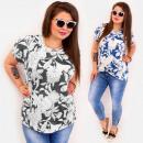 Großhandel Hemden & Blusen: C11541 Elegante Damen Plus Size Bluse, Himbeeren