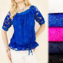 Großhandel Hemden & Blusen: C1780 EFFEKTIVE SPITZENBLUSE, SCHÖNER ARM