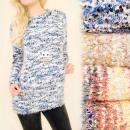 Großhandel Pullover & Sweatshirts: 4387 Gemustert, Hairy, Womens Sweater, Melange