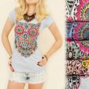 G195 BLUSA muy de  moda, algodón, OWL arabescos