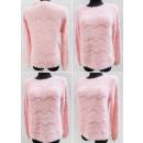 K06 Hairy Warmer Damen-Pullover, Zickzack und Perl
