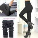 wholesale Trousers: Women's Leggings with Fleece, 1200 Den, ...