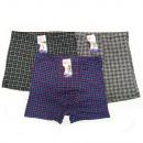 hurtownia Fashion & Moda: Bambusowe Bokserki Męskie, 4XL- 7XL, Kratka, 5837