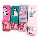 wholesale Fashion & Apparel: Girls socks, Funny Animals, 23-38, 5354