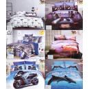 groothandel Bedtextiel & matrassen: Beddengoedset, 160x200, 4 delen, 3D print, mix Z13