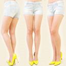 Großhandel Shorts: B16349 BRIGHT,  Shorts, Jeans, BOHRUNGEN MIX