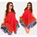 Großhandel Kleider: C17711 Frauenkleid mit V-Ausschnitt und orientalis