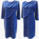 Großhandel Kleider: D4003 Kleid, Made In Poland, 44-52, Blau