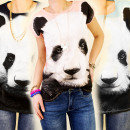 ingrosso T-shirts & Tops: CAMICIA 3794, TOP  FOTO STAMPA Panda Bear MIX