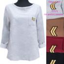 nagyker Ruha és kiegészítők: Női pulóver, katonai stílusú, UNI, 5252