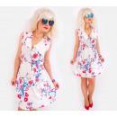 C17518 Romantisches Damen Kleid, V-Ausschnitt