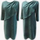 Großhandel Kleider: D4005 Kleid, Made In Poland, 44-52, Grün