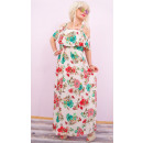 C17498 Romántico, vestido largo largo, cenefa