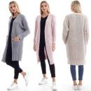 wholesale Pullover & Sweatshirts: Women Cardigan, Coat, Oversized Sweater, A81228