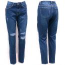 Großhandel Jeanswear: Frauen Jeans, 36-44, Boyfriend Line, Löcher, B1689