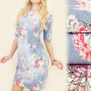 4116 OVERSIZE  LOOSE DRESS, SPRING ROSES