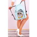 Großhandel Taschen & Reiseartikel: T60 Charming Damen Rucksack Sack, lustige Eulen
