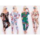 wholesale Fashion & Apparel: C17488 Womens Summer Overalls, Spanish Flower