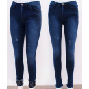 Großhandel Jeanswear: B16749 Damen Jeans, Skinny Pants, mit Spitze