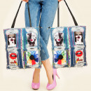 Großhandel Taschen & Reiseartikel: T37 Sleek Bag,  Blue Jeans, Modische Patches