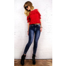 B16691 Sexy Women Jeans, Pants, Marbles, Sliders