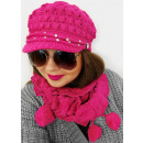 wholesale Headgear: A1267 Womens Set: Cap with Visor + Scarf