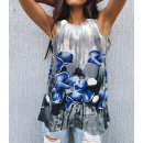 wholesale Fashion & Apparel: Women Blouse, Summer Top, Flowers M-4XL, 6209