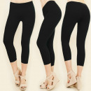 wholesale Trousers: 4514 Bamboo Leggings 3/4, Only Black